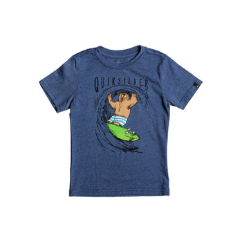 Quiksilver Boys Bear Shred Tee - Dark Denim Heather