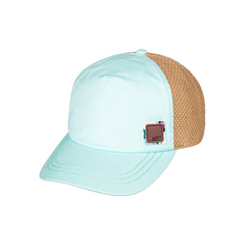 Roxy Incognito Straw Baseball Hat - Pastel Turquoise