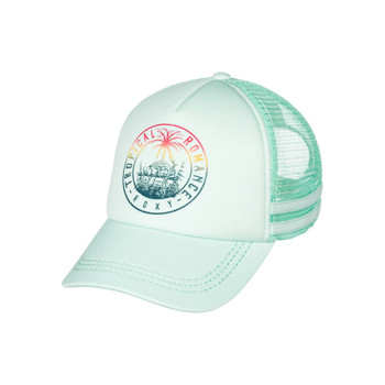 Roxy Dig This Paradise Flag Trucker Hat - Pastel Turquoise