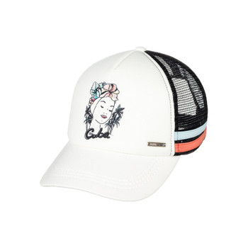 Roxy Dig This Paradise Flag Trucker Hat - Marshmallow