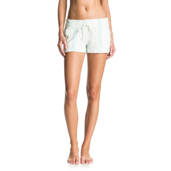 Roxy Oceanside Yarn Dye Beach Shorts - Pastel Turquoise Tobago Stripe