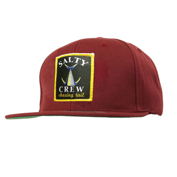 Salty Crew Chasing Tail Patched Hat - Burgundy