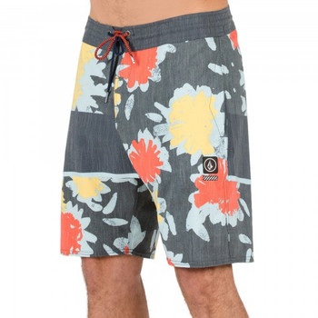 Volcom 3 Quarta Stoneys Boardshorts- Bright Orange