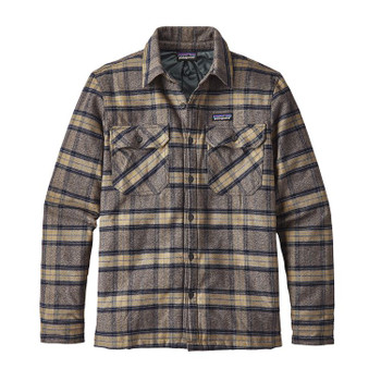 Patagonia Men's Insulated Fjord Flannel Jacket - Migration Plaid / Forge Grey