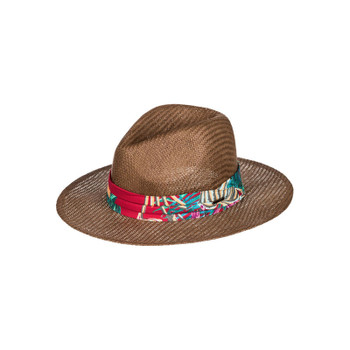 Roxy Here We Go Straw Panama Hat - Brown