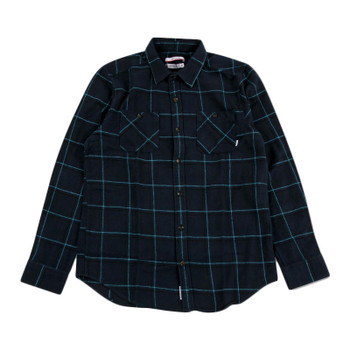 Nixon Magee L/S Flannel - Navy Plaid