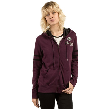 Volcom Past is Past Zip Hoody - Plum