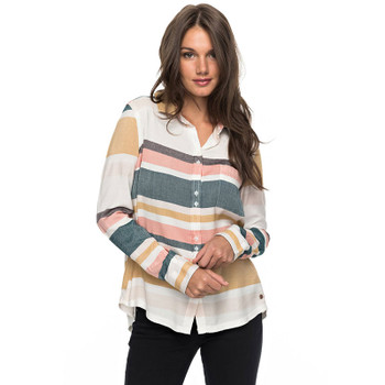 Roxy Heavy Feeling L/S Shirt - Marshmallow Blanket Stripe