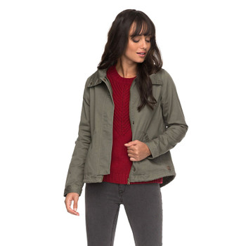 Roxy Watch The Sunrise Hooded Jacket - Dusty Olive