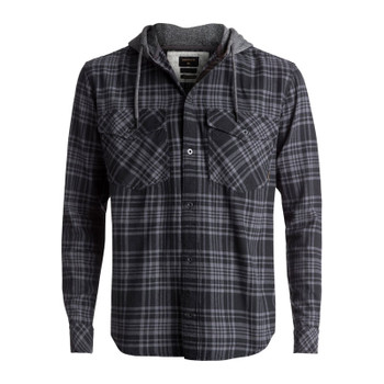 Quiksilver Snap Up Hooded Flannel - Tarmac