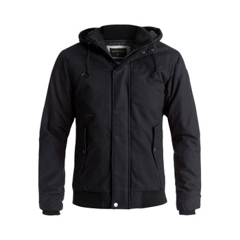 Quiksilver Everyday Brooks Water-Repellent Hooded Bomber Jacket - Black
