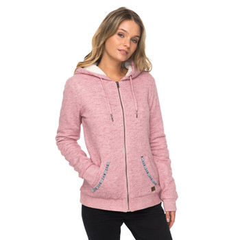 Roxy Trippin Sherpa Zip Hoodie - Syrah Heather