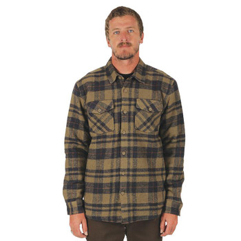 Captain Fin Rochester L/S Overshirt - Olive