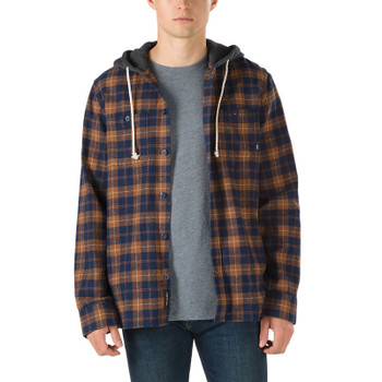 Vans Lopes Hooded Flannel - Dress Blues / Toffee