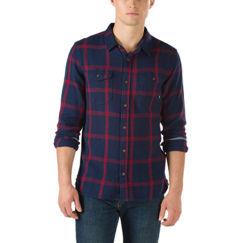 Vans Wayland II Flannel - Dress Blues / Racing Red