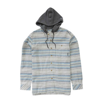 Billabong Baja Hooded Flannel - Stone Heather