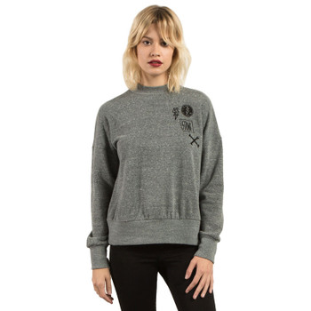 Volcom Stayin High Sweatshirt - Charcoal