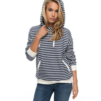 Roxy Shoal Stripe Hoodie - Dress Blues Friday Stripe