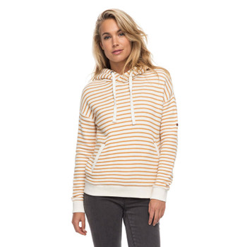 Roxy Shoal Stripe Hoodie - Spruce Yellow Friday Stripe