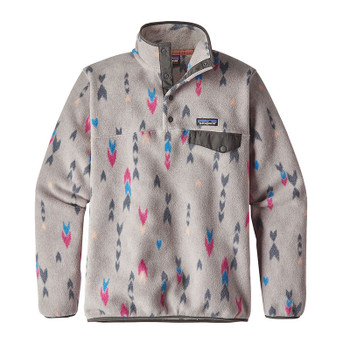 Patagonia Lightweight Synchilla Snap-T Women's Fleece Pullover - Wish Tails Big - Craft Pink