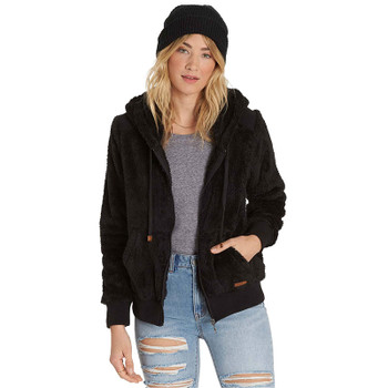 Billabong Cozy Down Polar Fleece Jacket  - Black