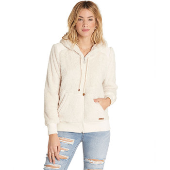 Billabong Cozy Down Polar Fleece Jacket  - White Cap