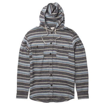 Vissla Pumphouse Hooded Flannel - Navy