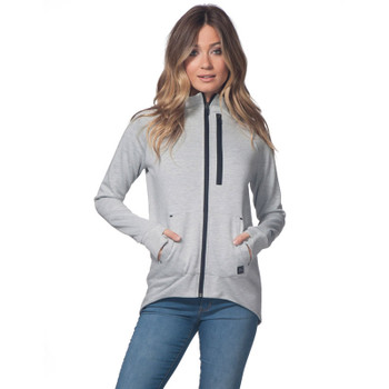 Rip Curl Anti-Series Flux Zip Fleece - Light Heather Grey
