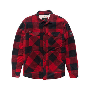 Rip Curl El Cap Fleece L/S Flannel - Red