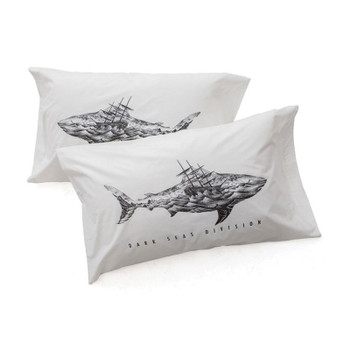 Dark Seas Chronicle Pillow Case - White
