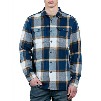 Volcom Heavy Daze Long Sleeve Flannel - Indigo