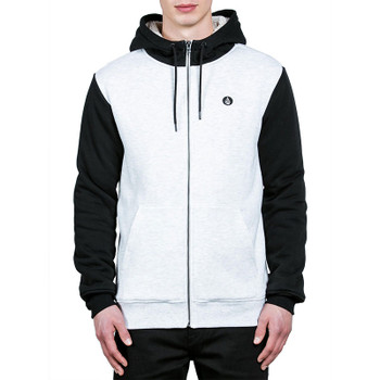 Volcom Single Stone Lined Zip Hoodie - Mist