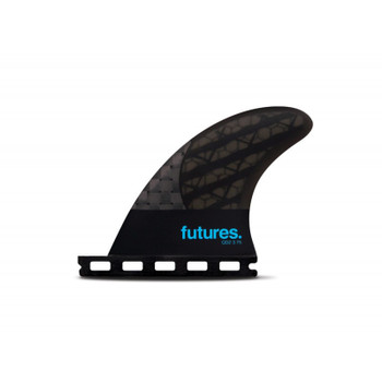 Futures Fins QD2 3.75 Blackstix Quad Rear Set - Smoke/Turquoise