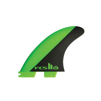 FCS II MF PC Tri Fin Large Set - Green/Black