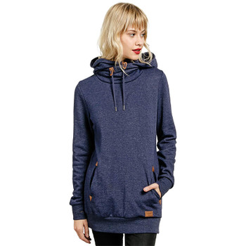 Volcom Walk On By High Neck Hoodie - Midnight Blue