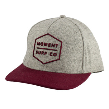 Moment Boxed Logo Hat - Burgundy / Tweed