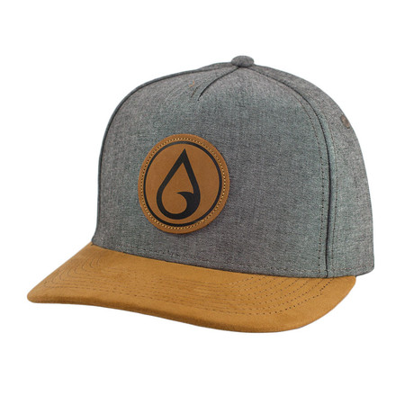 Moment Raindrop Circle Patch Hat - Heather Grey / Khaki