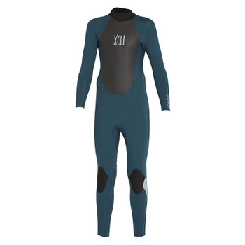 Xcel Youth Axis Back Zip 4/3 Wetsuit - Spruce / Fog Blue