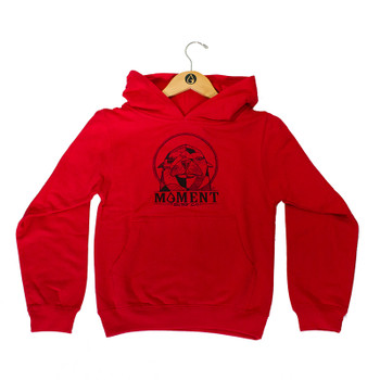 Moment Sea Lion Youth Pullover Hoodie - Red