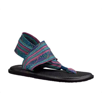 Sanuk Yoga Sling 2 Prints Sandal - Navy Multi Geo Stripes
