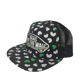 Vans Beach Girl Trucker Hat - Green / White Hearts