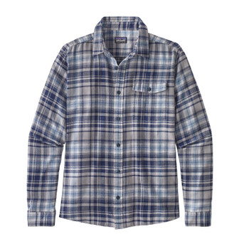 Patagonia Men's L/S Lightweight Fjord Flannel Shirt - Rootsy: Classic Navy