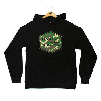 Moment Boxed Logo Pullover Hoodie - Black / Camo