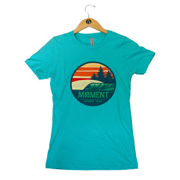 Moment Sunset Waves Tee - Tahiti Blue