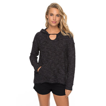 Roxy Crazy Waves Pull Over Hooded Sweatshirt - Anthracite