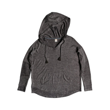 Roxy Cozy Chill Long Sleeve Hooded Lounge Top - Charcoal Heather