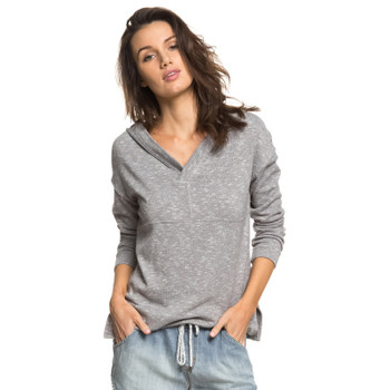 Roxy Sunset Surfside Long Sleeve Hooded Top - Charcoal Heather