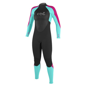 O'Neill Youth Girls Epic 4/3 Wetsuit -Black/Berry/Seaglass