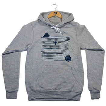 Cold Water Girls Rock N' Whale Hoody - Athletic Grey