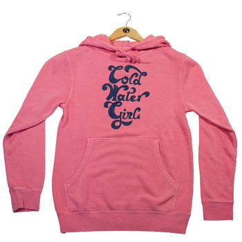 Cold Water Girls Script Hoody - Pink